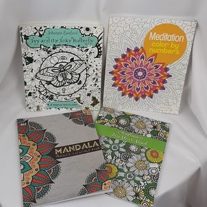 NEW!!! Set of 4 coloring books